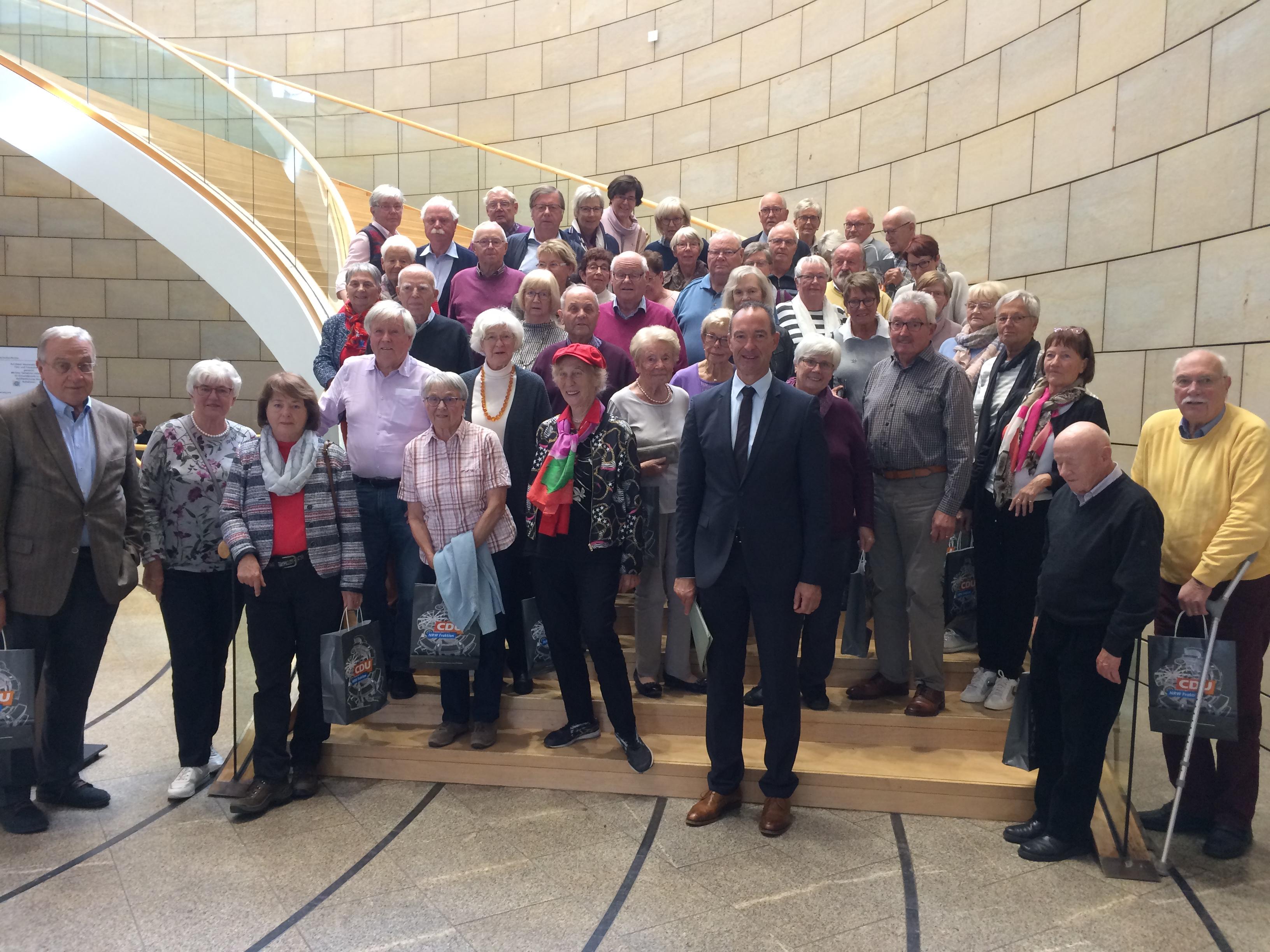 Besuch im Landtag NRW auf Einladung von Jochen Ritter zusammen mit der SU Olpe